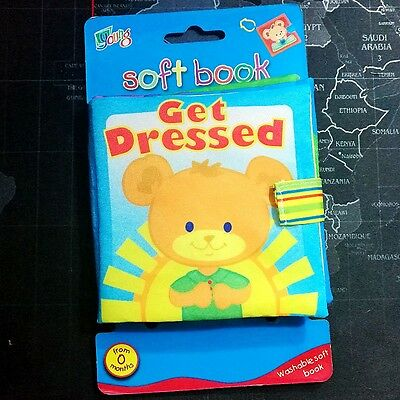 Baby Kid Child Crinkle Soft Cloth Book Toy- get dressed