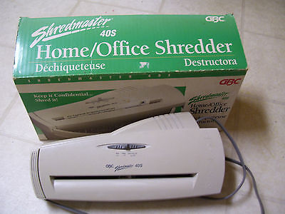 Used Gbc Shredmaster 40S Home Office Paper Document Shredder Orig Box Complete