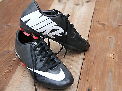 NIKE MERCURIAL Kids Boys Soccer Cleats Sneakers Black Shoes Size 3.5 Youth