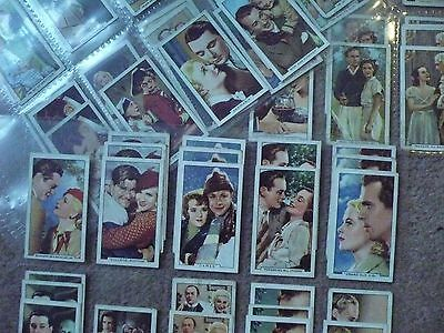 """Gallaher Cigarette Cards 65 Cards  """"famous Film Scenes""""  In Plastic Sleeves"""