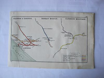 1913 RAILWAY CLEARING HOUSE Junction Diagram No.158 ALLERTON,CLEOBURY MORTIMER.