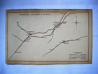 1904  RAILWAY CLEARING HOUSE Junction Diagrams.BARMILL,KILSYTH,LUGTON