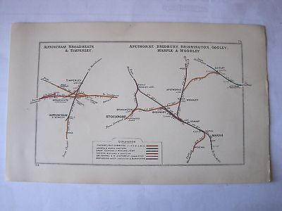 1928 RAILWAY CLEARING HOUSE Junction Diagram No.73 .ALTRINCHAM & STOCKPORT AREA.