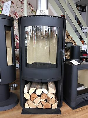 Broseley Wood Burning stove 8Kw With Log Store