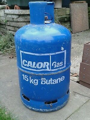 Calor butane 15 kgs bottle. Little gas remaining.