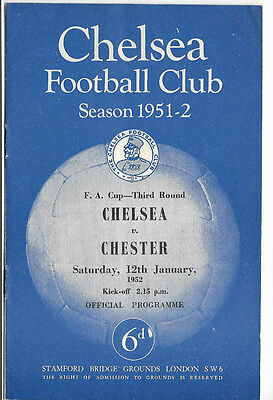 1951/52 FA Cup 3rd Round - CHELSEA v. CHESTER