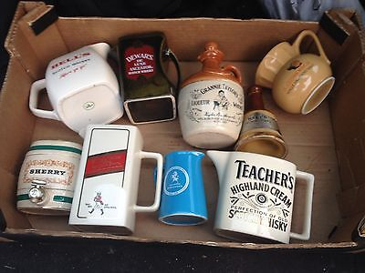 Collection Of Vintage Beer Whiskey Sherry Jugs Etc