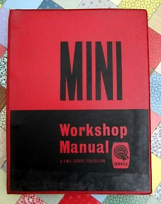 MINI Factory Workshop Manual BMC Service Manufacturers Red Black 1966