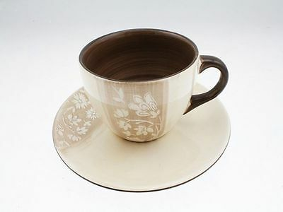 4 x Tea Cup & Saucer 300ml Simmon Collection Stoneage