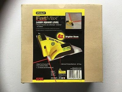 FatMax Laser Square Level 77-198 S2X HIGH POWERED LASER SQUARE LEVEL 4x BRIGHTER