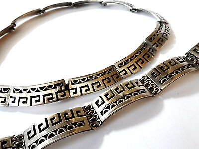 925 Silber Schmuck Set Mexico 1968 Mexico City, Museumsshop INAH, Eagle 3