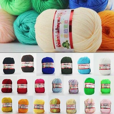 New 50g/Skein Soft Hand-Knitted Soft Cotton Wool Yarn For Baby Scarf Towel Socks