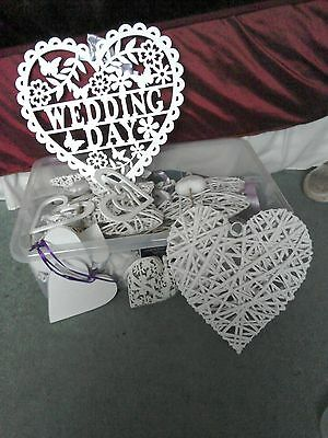 assorted white wedding hearts