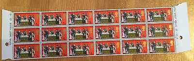 GB - 5d - Signing the Declaration of Arbroath - 1970 - MNH - BLOCK OF 18 STAMPS