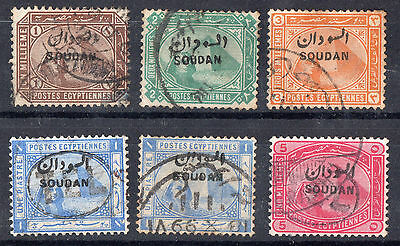 Sudan - Egypt - Selection Of 6 Sudan Overprints Stamps..Used.