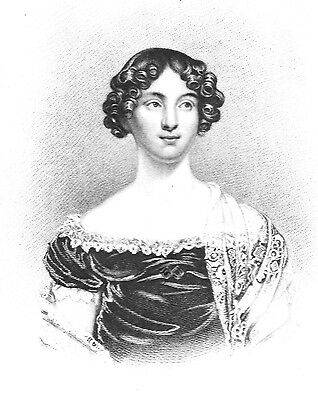 Miss Ellen Campbell - English Actress - Engraved after Rose Emma Drummond 1818