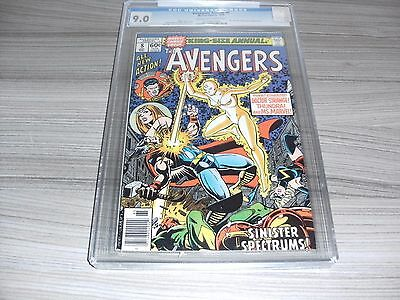 The Avengers Annual #8. Cgc Universal Grade 9.0 (Very Fine/near Mint). Marvel.