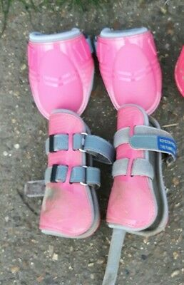 Cob size pink tendon and fetlock boots