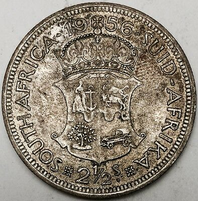 1956 2 1/2 Shillings Half Crown Halfcrown South Africa Silver Coin