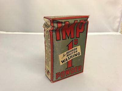 Vintage Small Early Unopened Packet of Imp Washing Soap Powder Price 1d