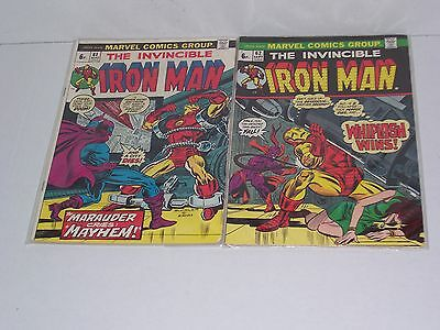 Iron Man issues 61 - 70 (10 comics, includes issue 66 battle with Thor)
