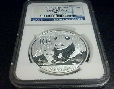 2012 China 10 Yuan Silver Panda NGC MS70 Early Releases