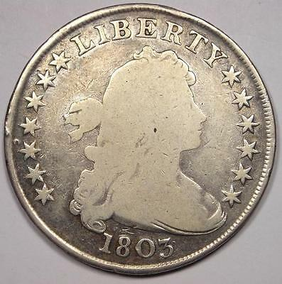 1803 Draped Bust Silver Dollar $1 - Good Details - Rare Type Coin!