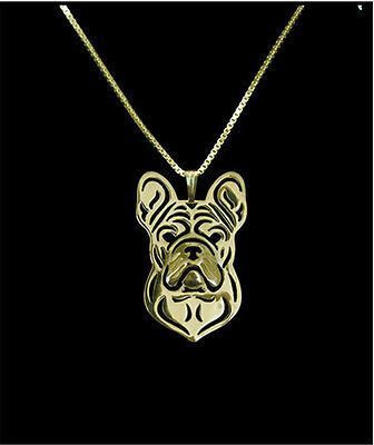French Bulldog Pendant Necklace Gold ANIMAL RESCUE DONATION