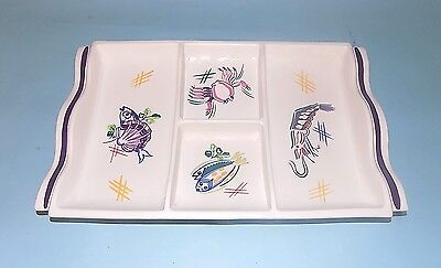 Poole Pottery Hors D'oeuvres Fish Dish. Perfect Condition.1950's.
