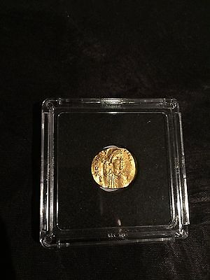 CONSTANS II 641AD GOLD Tremissis Constantinople Byzantine Cross Coin