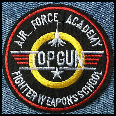 Ecusson patch TOP GUN thermocollant, Aufnäher toppa parche air force iron-on
