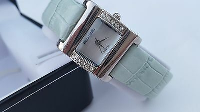 New Pierre Cardin Women's Blue Leather Elegant Watch
