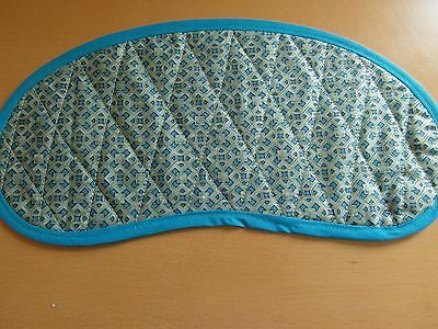 Bobbin Lace Pillow Pad for Continental Bobbins - Turquoise and Gold design