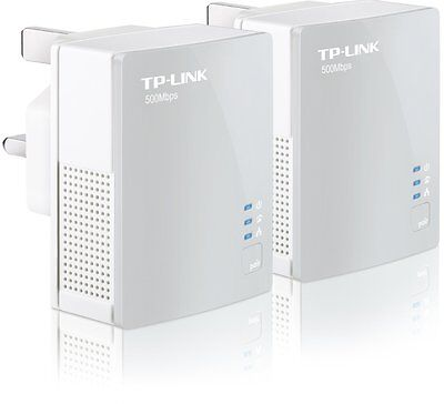 TP-Link 500Mbps TL-PA411KIT Nano Powerline Ethernet Adapter Home Plug Twin Pack