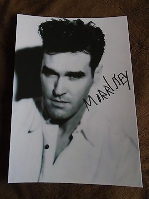MORRISSEY A4 signed print