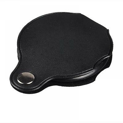 Leather Travel Glass Gift Loupe Magnifier Jewelry Lens