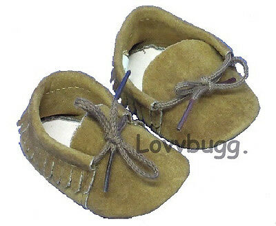 "Brown Moccasins for 18"" American Girl Doll Shoes Widest Selection on  planet"
