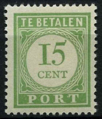 Curacao 1915-39 SG#D100a, 15c Green P13.5x12.5 Postage Due MH #D43897