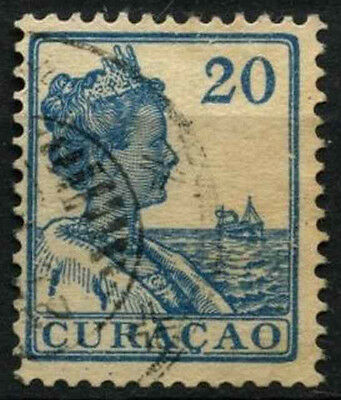 Curacao 1915-33 SG#87, 20c Blue Used #D43823