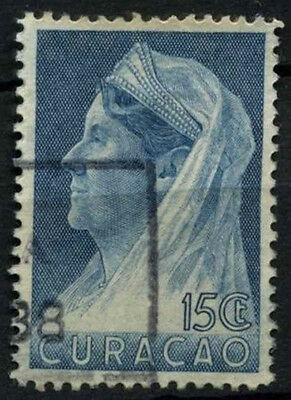 Curacao 1936-9 SG#163, 15c Blue Queen Wilhelmina Used #D43882