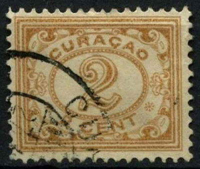 Curacao 1915-33 SG#72, 2c Pale Brown Used #D43812