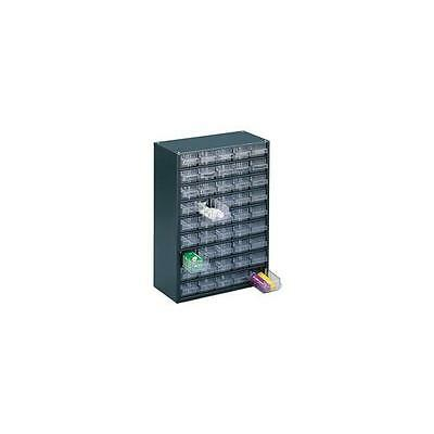 324193 , Storage Cabinet Clear 46 Drawer System Dark Grey , H420xW307xD150mm