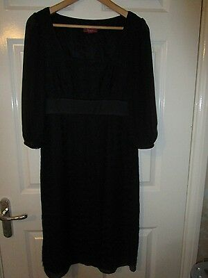 Party Evening Cruise Cocktail Ladies Size 10 Black Dress from MONSOON