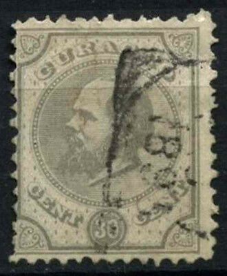 Curacao 1873-9 SG#24, 30c Pearl Grey P12.5x12 Used #D43764