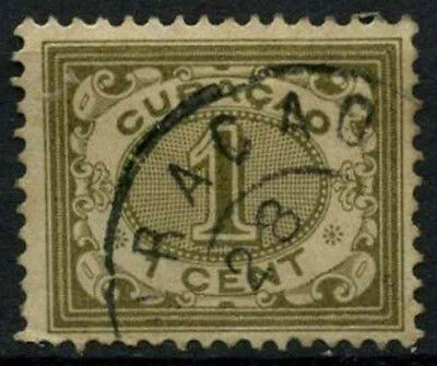 Curacao 1903 SG#54, 1c Olive Green Used #D43794