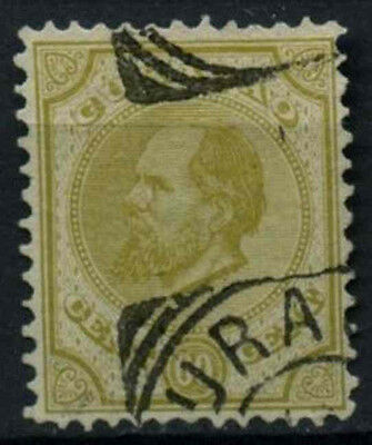 Curacao 1873-9, 60c Olive Green P12.5x12 Used #D43769