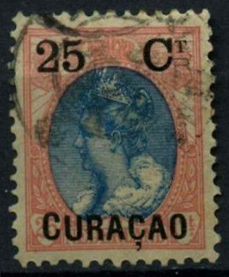 Curacao 1901-2 SG#52, 25c On 25c Blue And Rose Used #D43789
