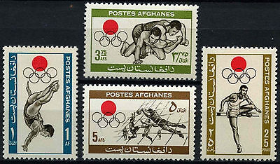 Afghanistan 1964 SG#527-530 Olympic Games MNH Set #D43705