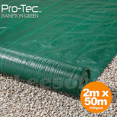 2m x 50m ground cover fabric landscape garden weed control heavy duty membrane