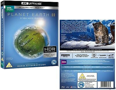 PLANET EARTH II 2016: 4K UHD + BLU-RAY - David Attenborough Sequel TV Series NEW
